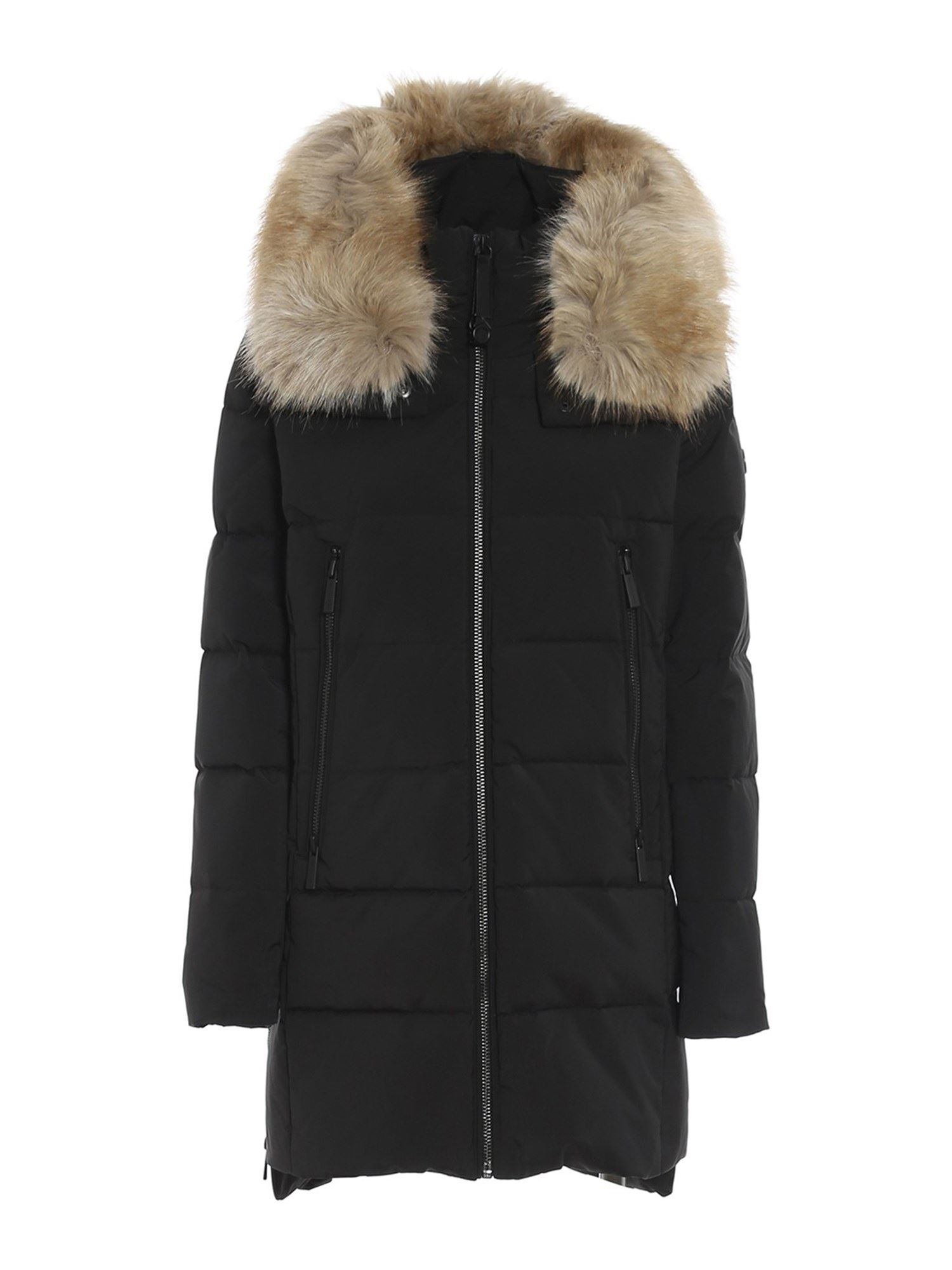 Michael Kors FAUX FUR INSERT PADDED COAT
