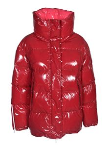 Tatras - Shiny effect down jacket in red
