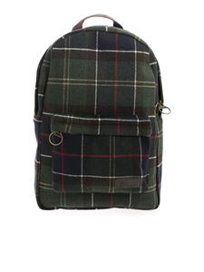 Barbour - Tartan backpack in green and blue