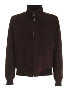 Stewart - Leather jacket in brown