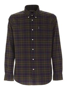 Barbour - Tartan pattern shirt in green and blue