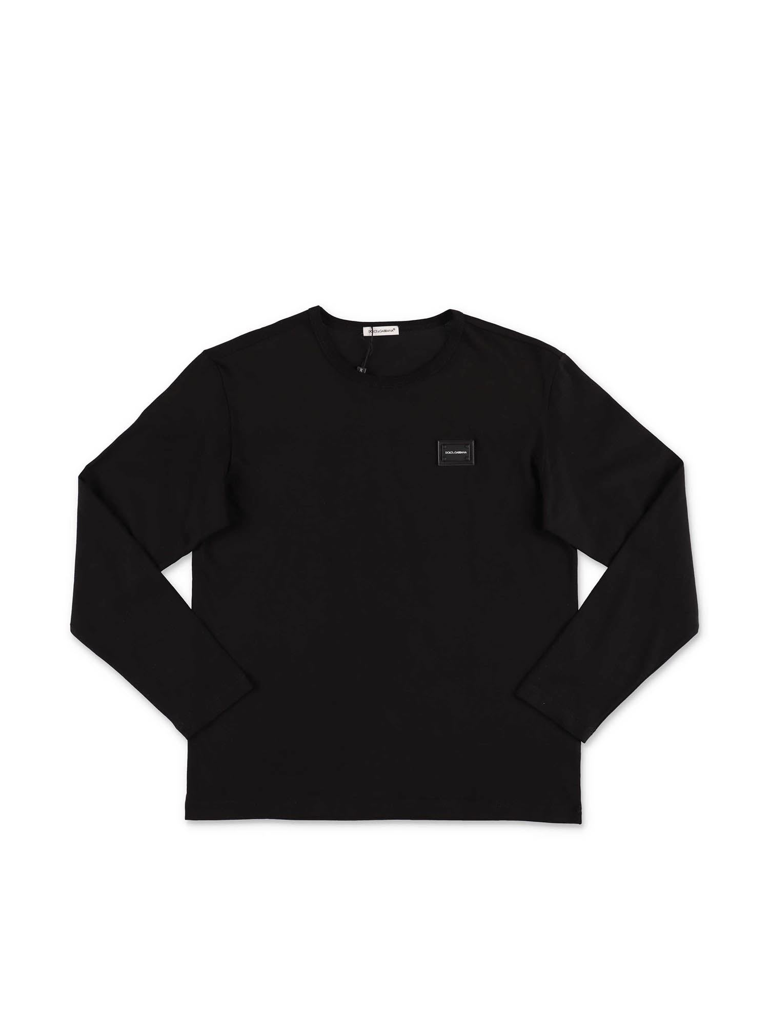 Dolce & Gabbana Jr BLACK LONG SLEEVE T-SHIRT