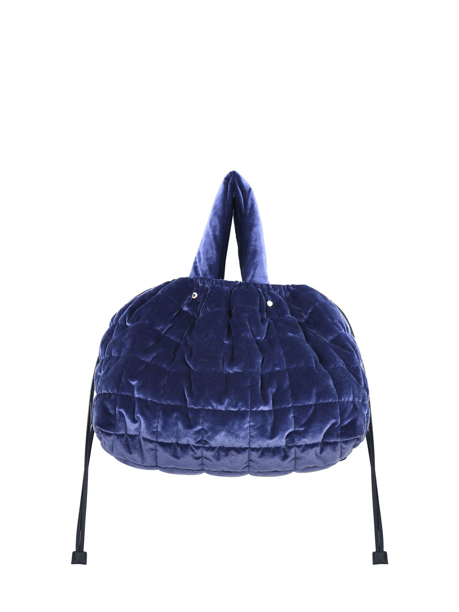 Aspesi VELVET HANDBAG IN BLUE