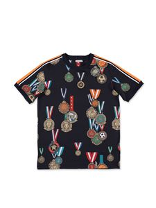 Dolce & Gabbana Jr - T-shirt back to school blu scuro