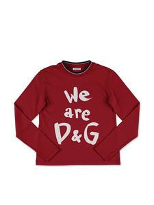 Dolce & Gabbana Jr - T-shirt we are D&G rossa