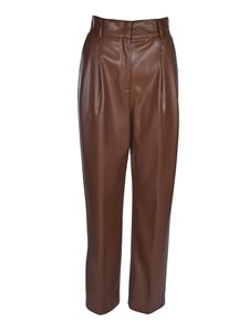 MSGM - Pleats pants in brown
