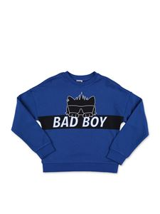 Karl Lagerfeld Kids - Felpa Bad Boy blu