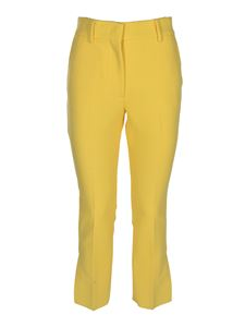 MSGM - Bootcut fit pants in yellow