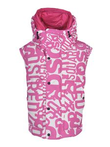 Dsquared2 - Branded down jacket in fuchsia and white