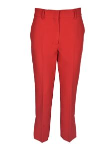 MSGM - Bootcut fit pants in red