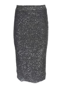 Michael Kors - Micro sequins skirt in black and silver