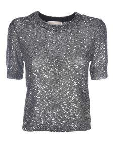 Michael Kors - Metallic effect T-shirt in silver color