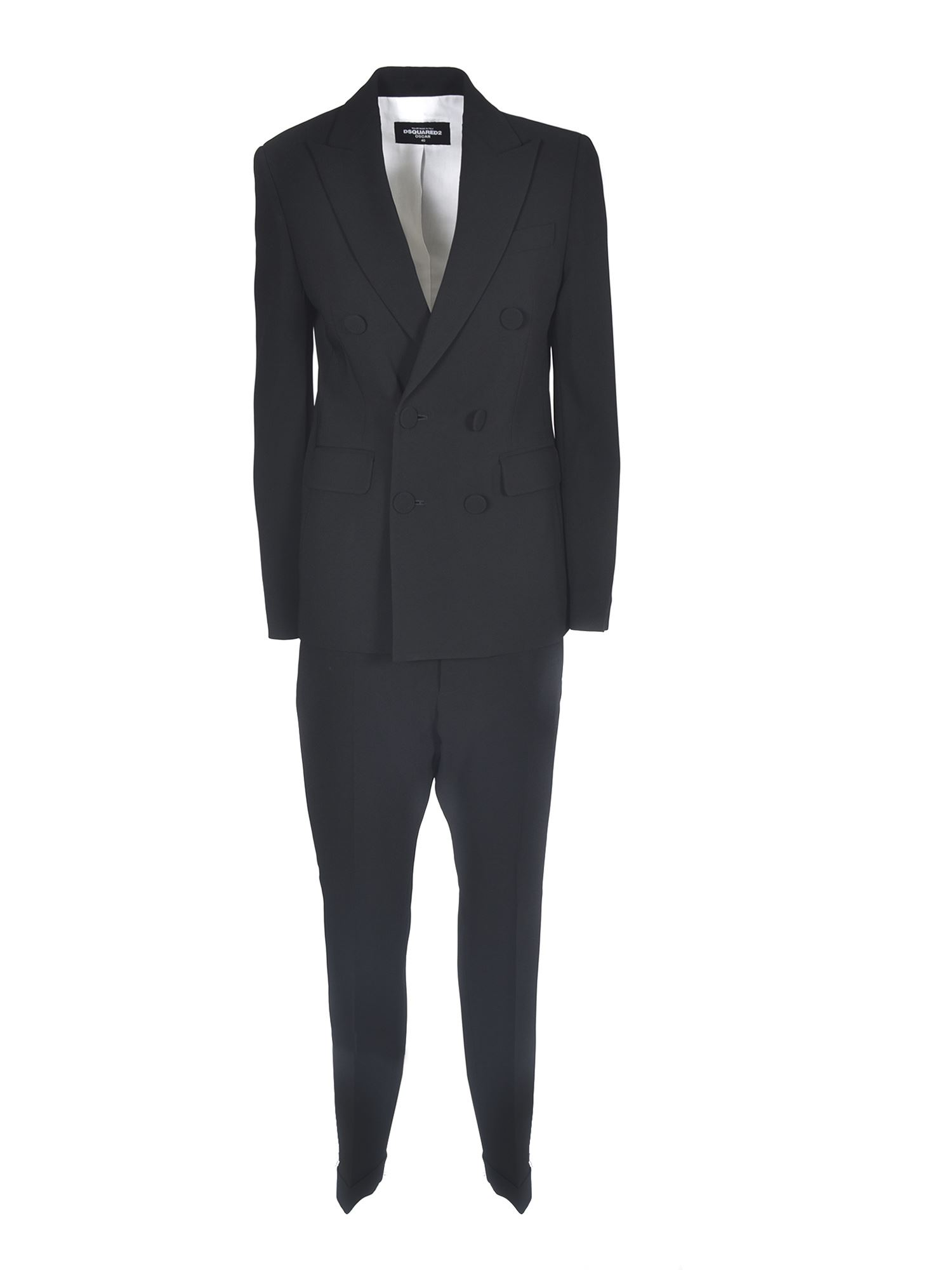 Dsquared2 DOUBLE-BREASTED SUIT IN BLACK