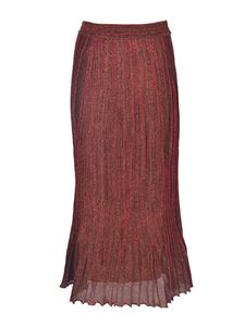 M Missoni - Lamé skirt in red and brown