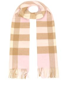 Burberry - Tartan patterned cashmere scarf