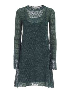 M Missoni - Lamé details dress in green