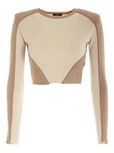 Elisabetta Franchi - Knitted suit in beige and cream color