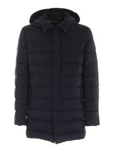 Herno - Removable hood jacket in blue