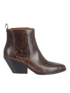 Michael Kors - Python printed leather ankle boots