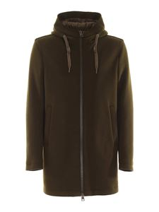 Herno - Hooded parka in green