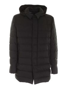 Herno - Removable hood down jacket in grey