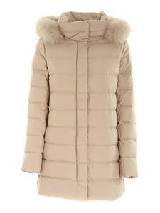 Herno - Quilted down jacket in beige