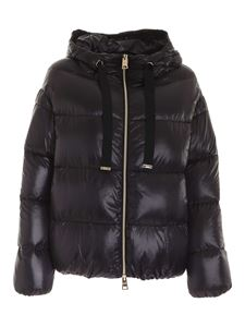 Herno - Quilted down jacket in black