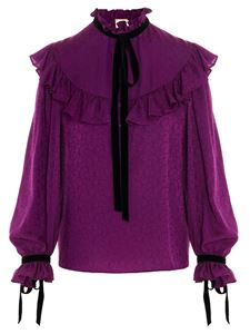 Saint Laurent - Soft bows blouse in purple