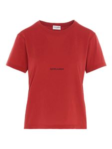 Saint Laurent - Logo t-shirt in carmine red