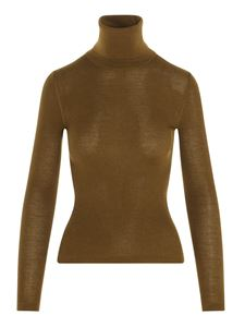 Saint Laurent - Ribbed turtleneck in mustard color