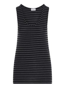 Saint Laurent - YSL striped tank top in grey
