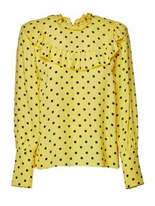 Red Valentino - Polka dots blouse in yellow and black