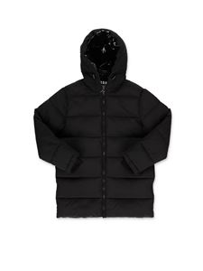 MSGM - Hooded puffer jacket in black