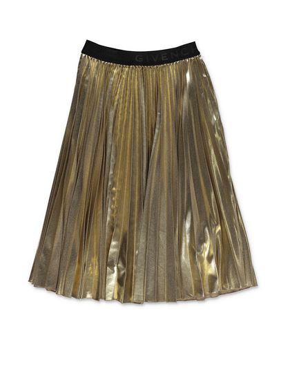 Givenchy - Pleated gold-colored skirt
