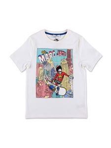 Little Marc Jacobs - T-shirt bianca con stampa comics