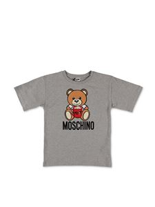 Moschino Kids - T-shirt Teddy Bear grigio melange