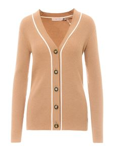 Tory Burch - Rib-knitted cardigan