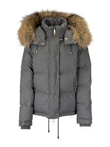 Fay - Fur hooded puffer jacket