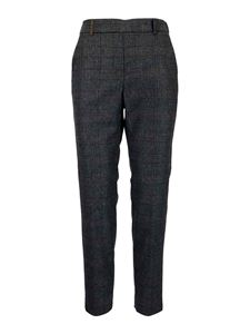 Peserico - Wool-blend prince of Wales trousers