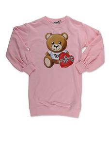 Moschino Kids - Abito Teddy Bear rosa