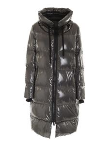 Herno - Quilted hooded down jacket in grey