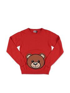 Moschino Kids - Red Teddy Bear sweater
