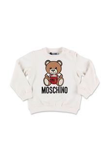 Moschino Kids - Felpa Teddy Bear bianca