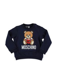 Moschino Kids - Felpa Teddy Bear blu