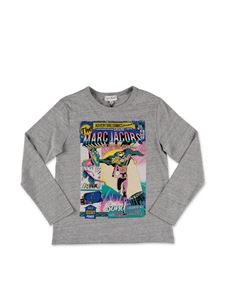 Little Marc Jacobs - T-shirt stampa Comics grigio