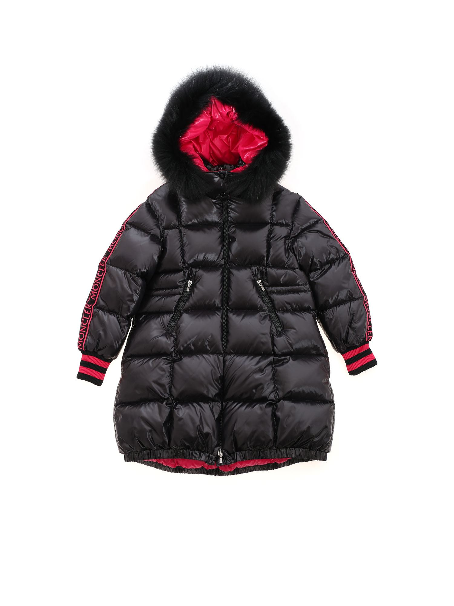 Moncler Jr FATALE HOODED DOWN JACKET IN BLACK