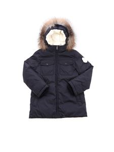 Moncler Jr - Manue hooded down jacket in blue