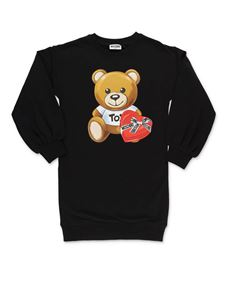 Moschino Kids - Abito Teddy Bear nero