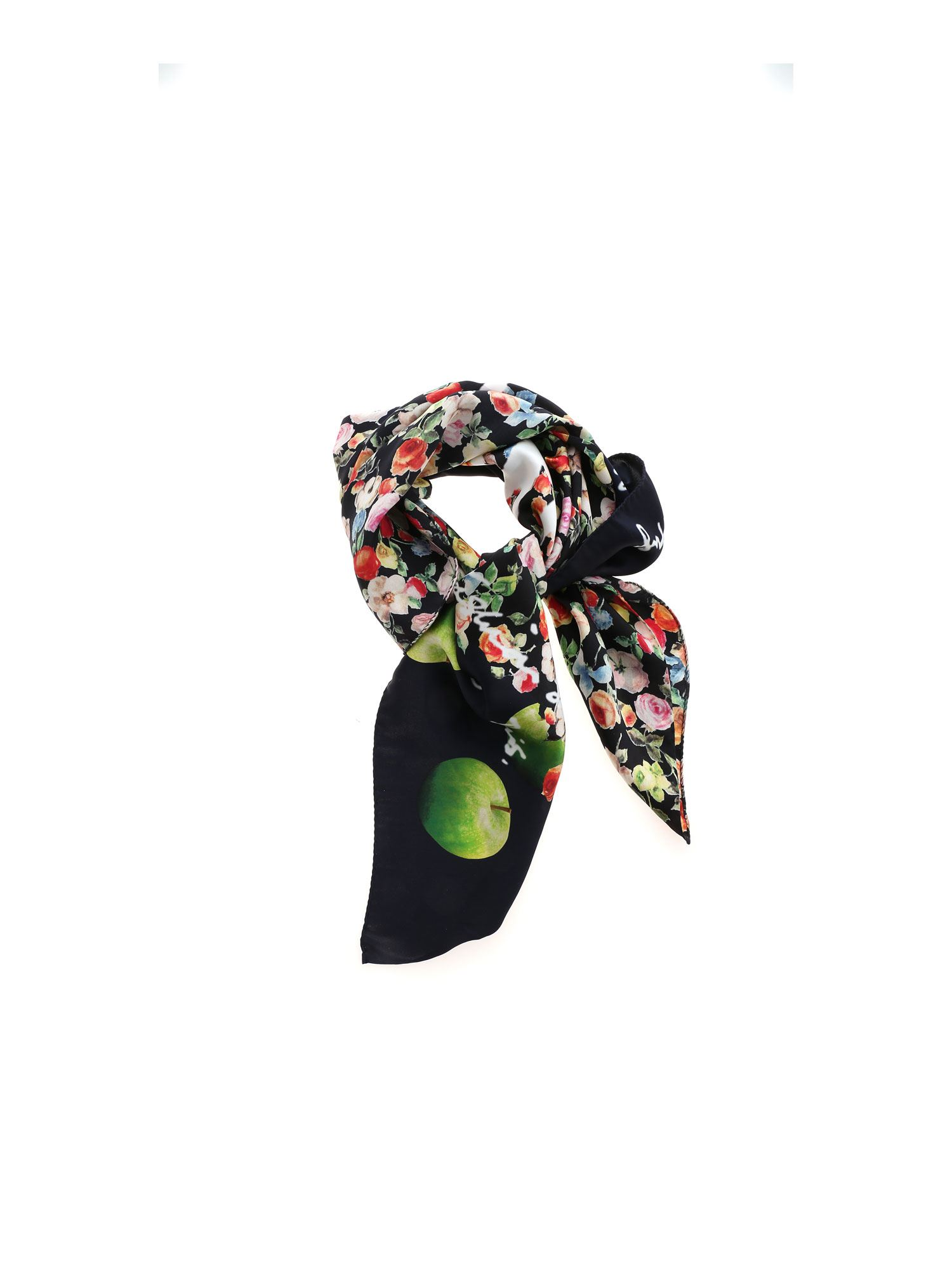 Paul Smith FLORAL PRINT FOULARD IN BLACK