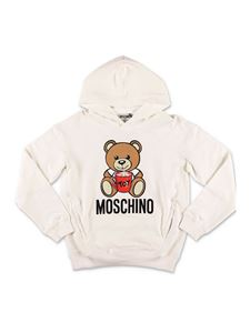 Moschino Kids - Teddy Bear hoodie in white
